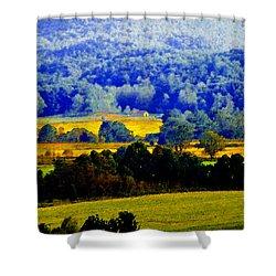 Blue Ridge Shower Curtain by David Lee Thompson