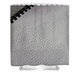 Braille Shower Curtain by Photo Researchers, Inc.