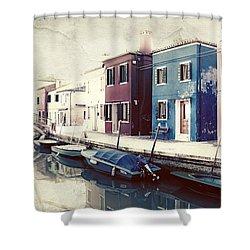 Burano Shower Curtain by Joana Kruse
