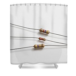 Carbon Film Resistors Shower Curtain by Photo Researchers, Inc.