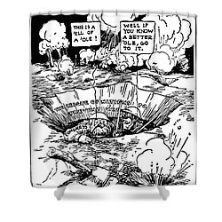 Cartoon: League Of Nations Shower Curtain by Granger