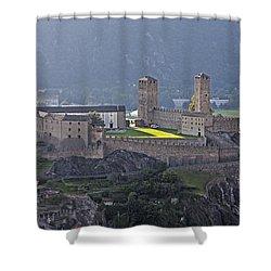 Castel Grande - Bellinzona Shower Curtain by Joana Kruse