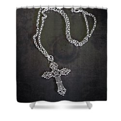 Celtic Cross Shower Curtain by Joana Kruse