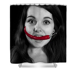 Chillies Shower Curtain by Joana Kruse
