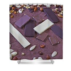 Chocolate Shower Curtain by Joana Kruse