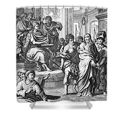 Christ Before Pilate Shower Curtain by Granger