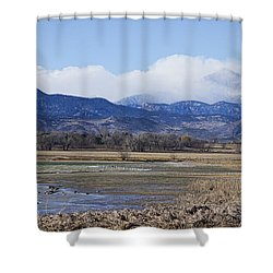 Clouds Hanging On The Continental Divide Colorado Rocky Mountain Shower Curtain by James BO  Insogna