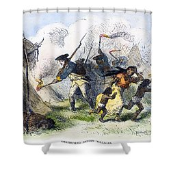 Destroying Villages, 1791 Shower Curtain by Granger