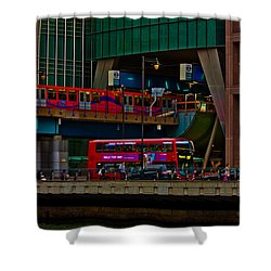 Docklands London Shower Curtain by Dawn OConnor