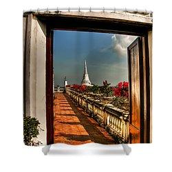 Door To Enlightenment Shower Curtain by Adrian Evans