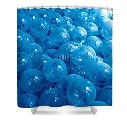 Dusty Light Bulbs Shower Curtain by Gaspar Avila