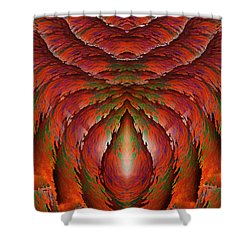 Eagle Heart Shower Curtain by Christopher Gaston