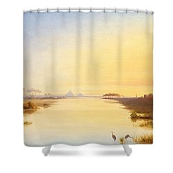Egyptian Oasis Shower Curtain by John Williams