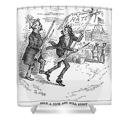 Election Cartoon, 1884 Shower Curtain by Granger