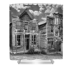 Elkhorn Ghost Town Public Halls - Montana Shower Curtain by Daniel Hagerman