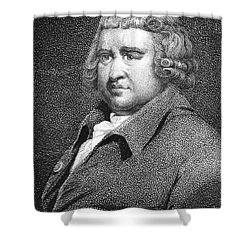 Erasmus Darwin, English Polymath Shower Curtain by Science Source