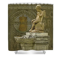 Even Angels Need A Smoke Shower Curtain by Ron Jones