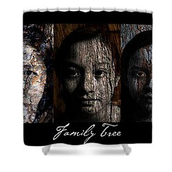 Family Tree Shower Curtain by Christopher Gaston