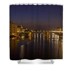 Florence - Ponte San Trinita Shower Curtain by Joana Kruse