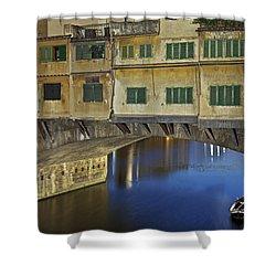 Florence - Ponte Vecchio Shower Curtain by Joana Kruse