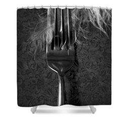 Fork And Feather Shower Curtain by Joana Kruse