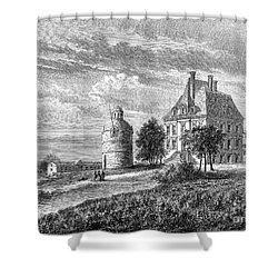 France: Wine Ch�teau, 1868 Shower Curtain by Granger