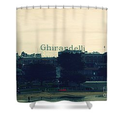 Ghirardelli Square Shower Curtain by Linda Woods