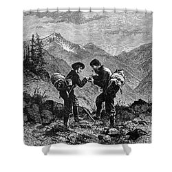 Gold Prospectors, 1876 Shower Curtain by Granger