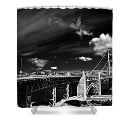 Golden Gate Shower Curtain by Ralf Kaiser