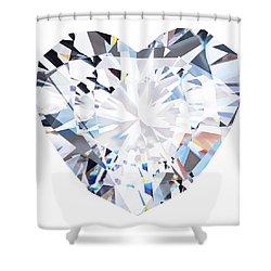 Heart Diamond  Shower Curtain by Setsiri Silapasuwanchai