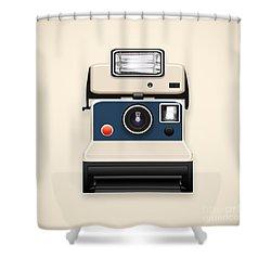 Instant Camera With A Blank Photo Shower Curtain by Setsiri Silapasuwanchai