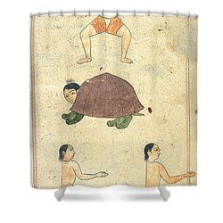 Islamic Mythical Creatures, 17th Century Shower Curtain by Photo Researchers