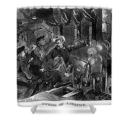 Kansas: Lawrence, 1856 Shower Curtain by Granger