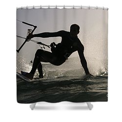 Kitesurfing Board Shower Curtain by Hagai Nativ