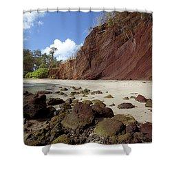 Koki Beach Shower Curtain by Jenna Szerlag