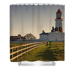 Lighthouse South Shields, Tyne And Shower Curtain by John Short