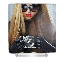 Liuda10 Shower Curtain by Yhun Suarez