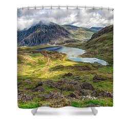 Llyn Idwal Lake Shower Curtain by Adrian Evans