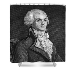 Maximilien Robespierre Shower Curtain by Granger