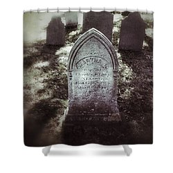 Misty Graveyard Shower Curtain by Jill Battaglia