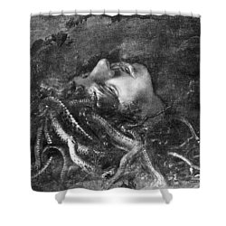 Mythology: Medusa Shower Curtain by Granger