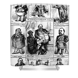Nast: Tweed Ring Cartoon Shower Curtain by Granger