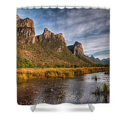 National Park Shower Curtain by Adrian Evans