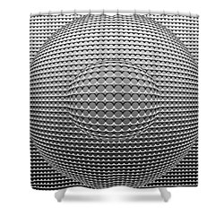 Optical Illusion Circle In Circle Shower Curtain by Sumit Mehndiratta