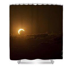 Partial Solar Eclipse Shower Curtain by Phillip Jones