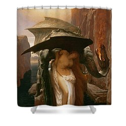 Perseus And Andromeda Shower Curtain by Frederic Leighton