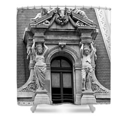 Philadelphia City Hall Window Shower Curtain by Bill Cannon