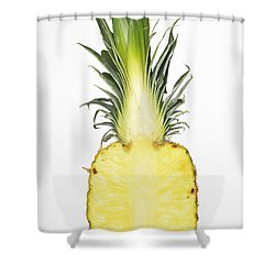Pineapple Ananas Comosus Shower Curtain by Matthias Hauser