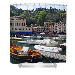 Portofino In The Italian Riviera In Liguria Italy Shower Curtain by David Smith