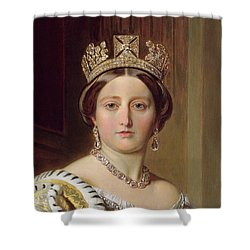 Portrait Of Queen Victoria Shower Curtain by Franz Xavier Winterhalter